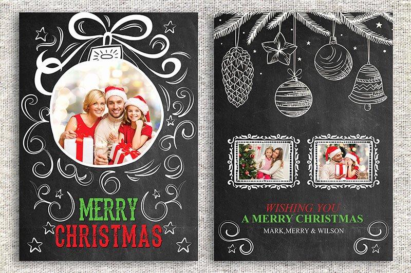 18 Printable Christmas Thank You Card Templates Free