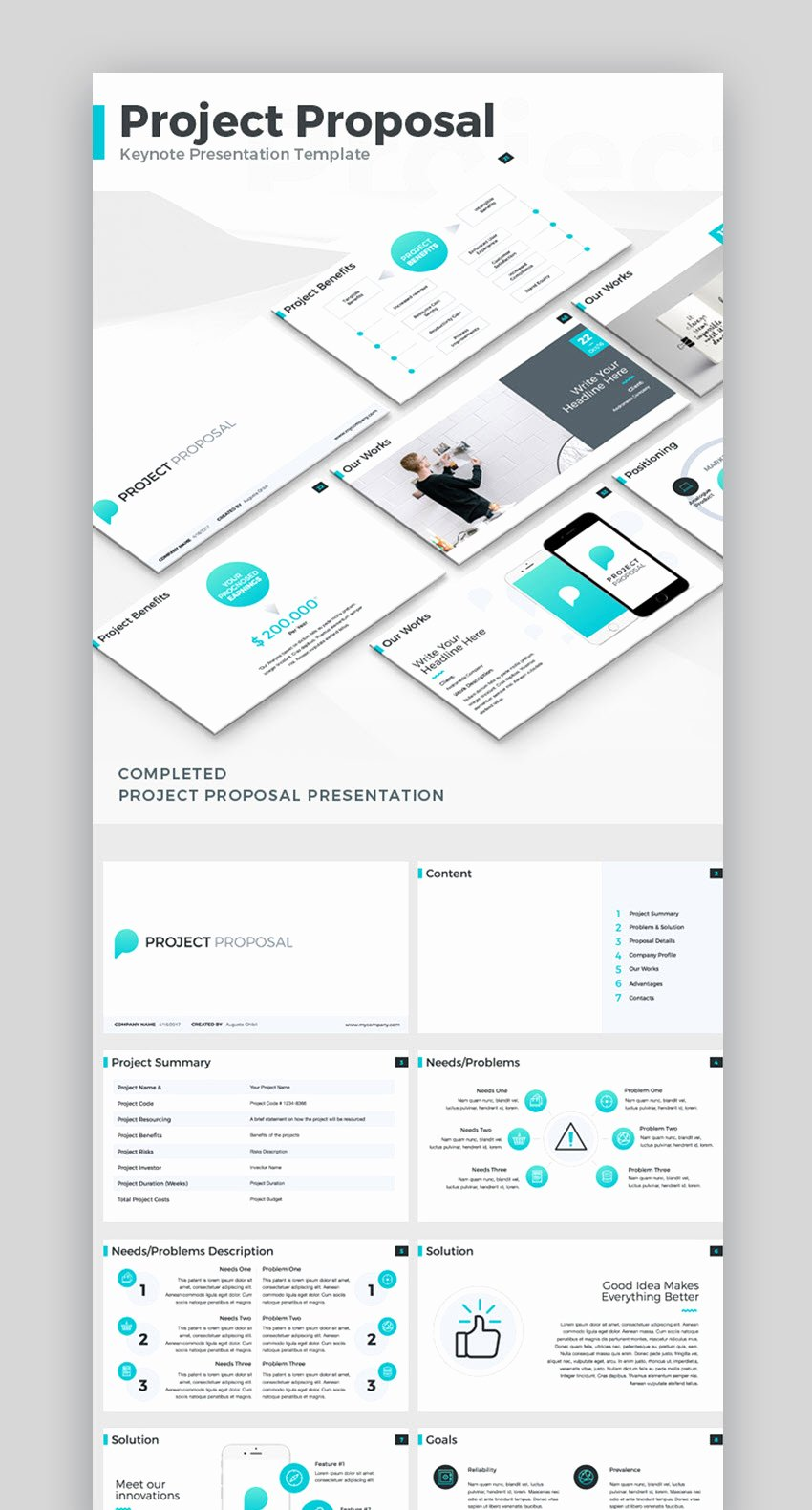 professional project proposal templates cms