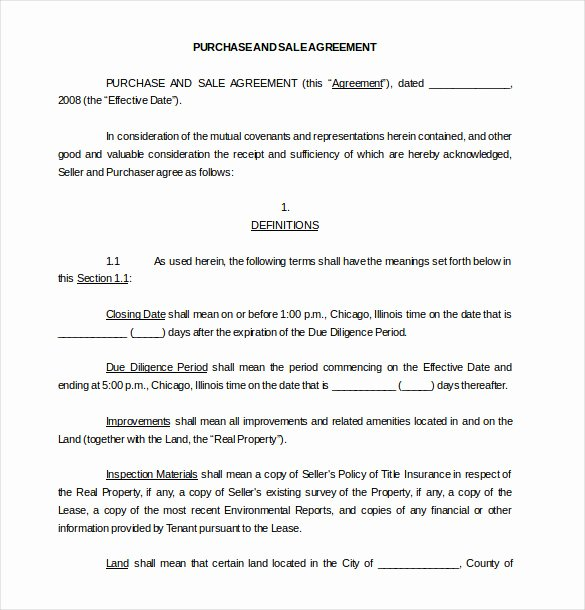18 Purchase Agreement Templates – Word Pdf Pages
