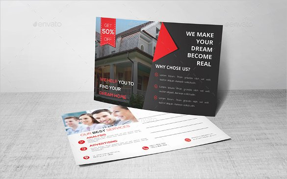 18 Real Estate Postcard Templates – Free Sample Example
