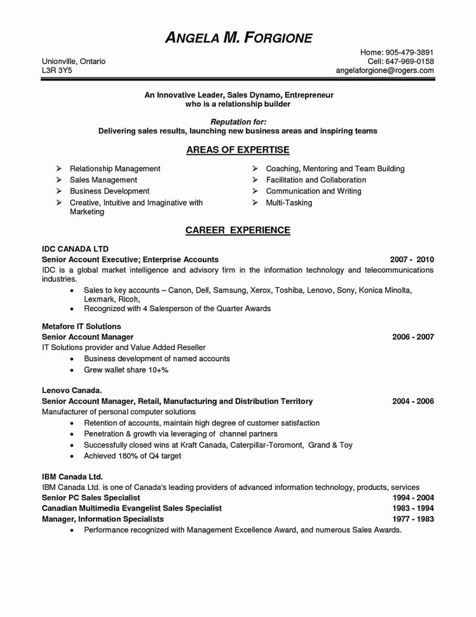 18 Resume for Management Position Download
