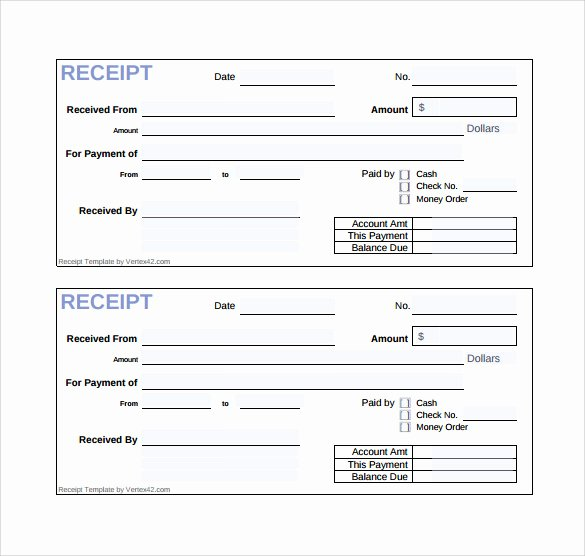 18 Sales Receipt Template Download for Free