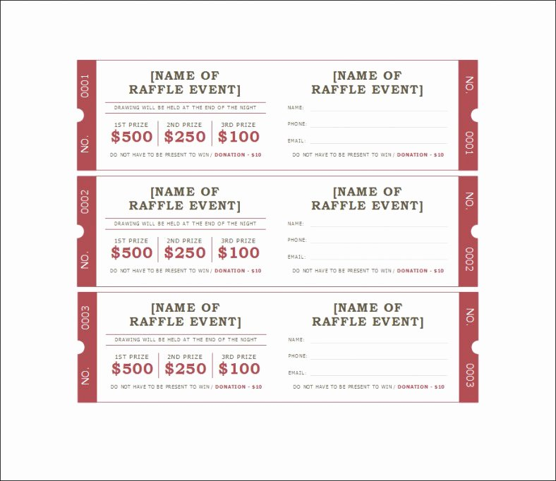 18 Sample Printable Raffle Ticket Templates Psd Ai