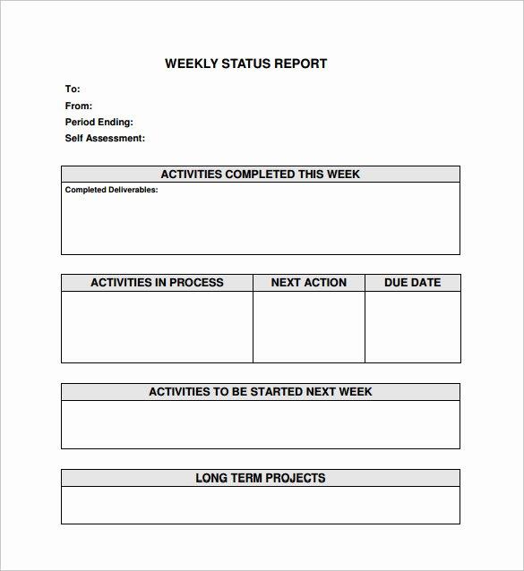 18 Sample Weekly Status Report Templates – Pdf Word