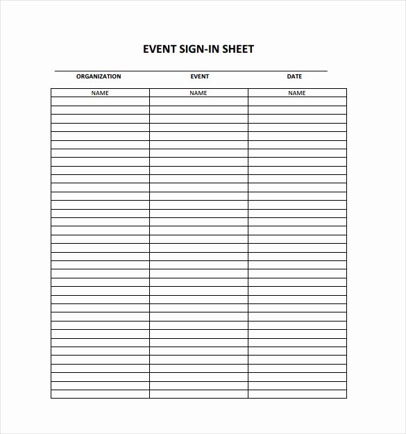 18 Sign In Sheet Templates – Free Sample Example format