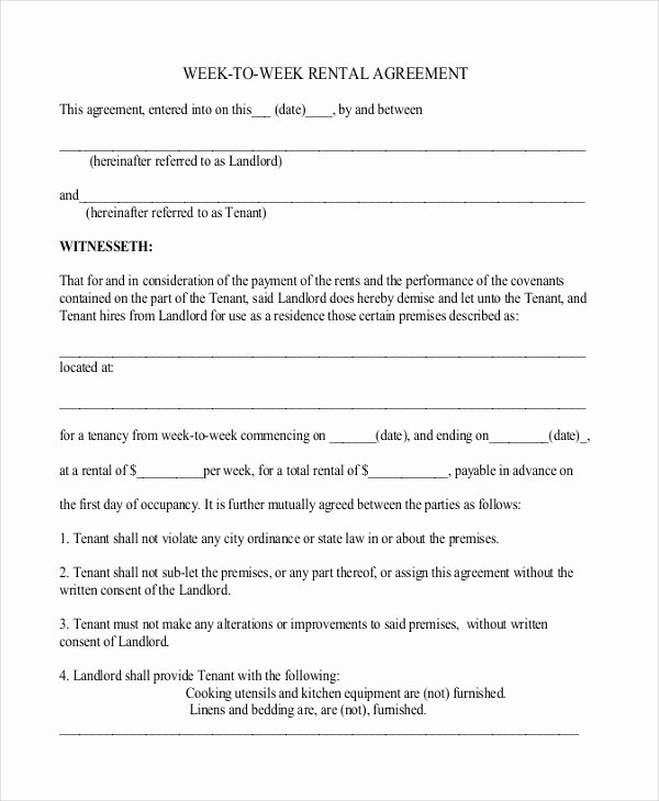 18 Simple Rental Agreement Templates Free Sample