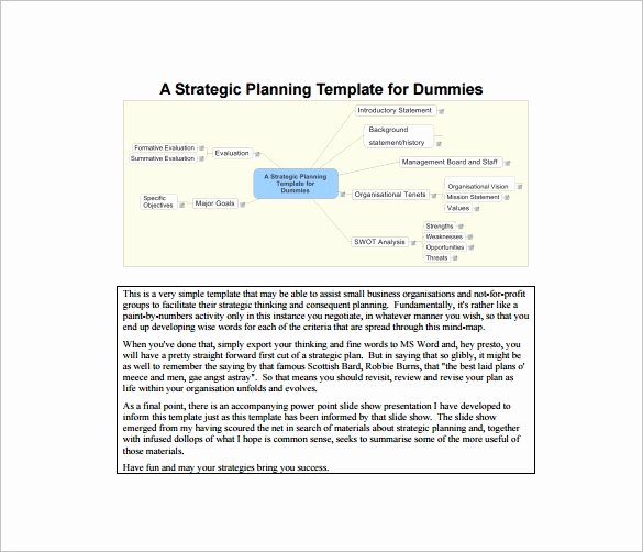 18 Strategic Plan Templates Free Sample Example