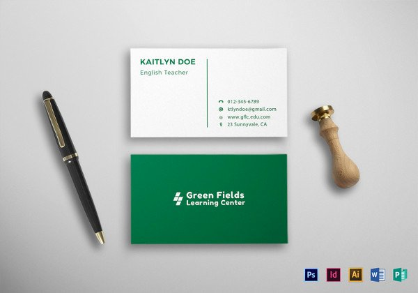 18 Student Business Cards Free Printable Psd Eps Word