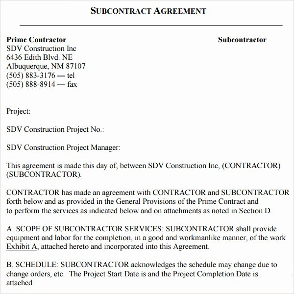 18 Subcontractor Agreement Templates