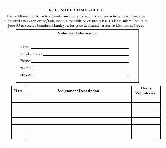 18 Volunteer Timesheet Templates – Free Sample Example