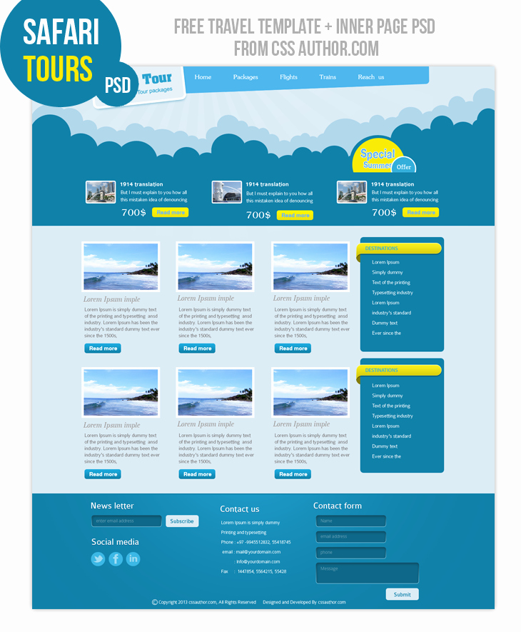 18 Website Design Psd Free Download Web Design