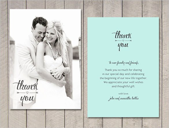 18 Wedding Thank You Cards Psd Ai Vector Eps