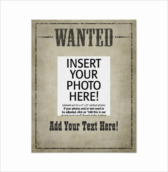 18 Western Wanted Poster Templates Free Printable