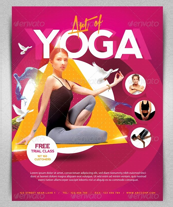 18 Yoga Flyer Template Free Psd Ai Vector Eps format