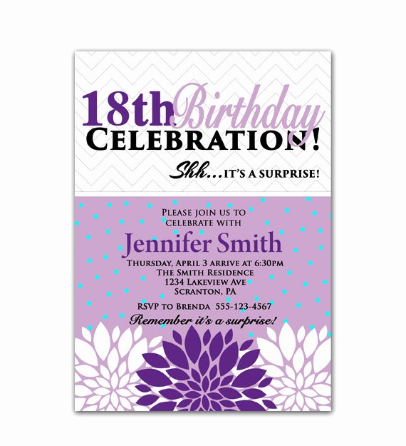 18th Birthday Party Invitations 18th Birthday Party