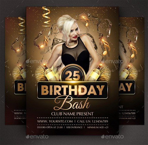 19 Amazing Birthday Party Psd Flyer Templates In Word