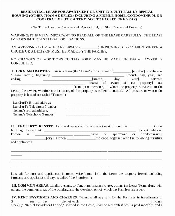 19 Apartment Rental Agreement Templates – Free Sample