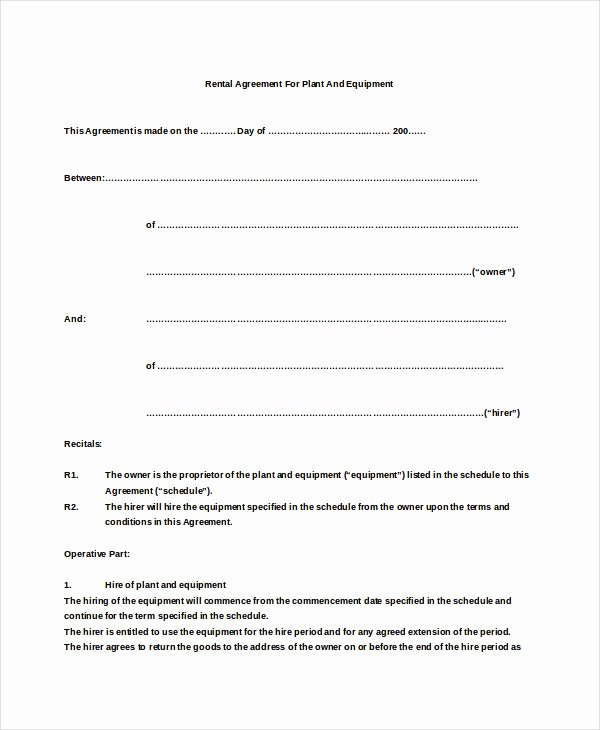 sample basic rental agreement