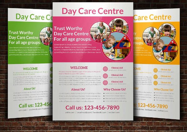 19 Beautiful Day Care Flyer Templates Psd Word Ai