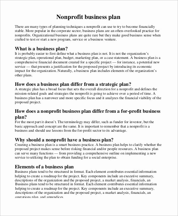 19 Business Plan Outline Samples