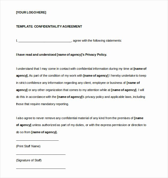 19 Confidentiality Agreement Templates Doc Pdf