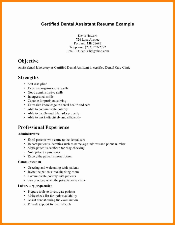 19 Dental assistant Resume Objectives