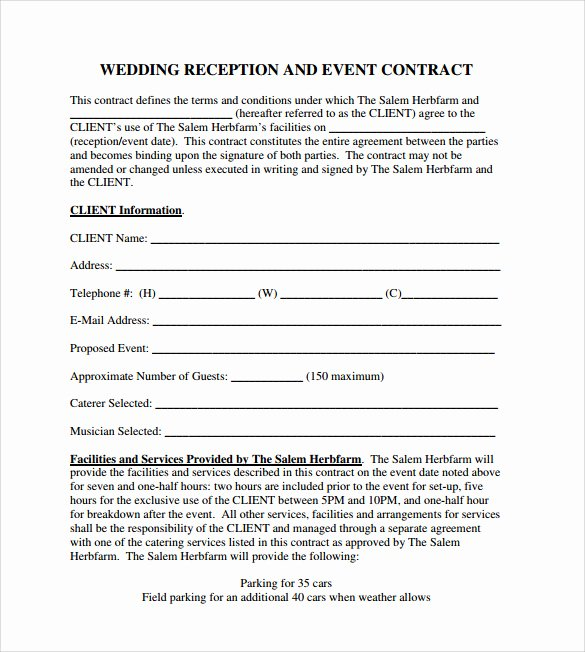 19 event Contract Templates to Download for Free
