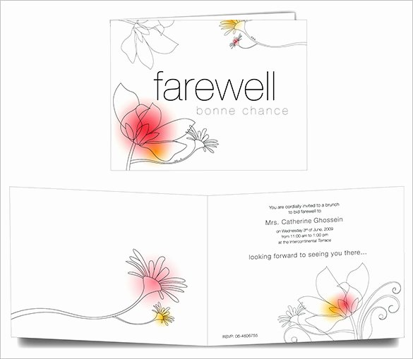 19 Farewell Card Template Word Pdf Psd Eps