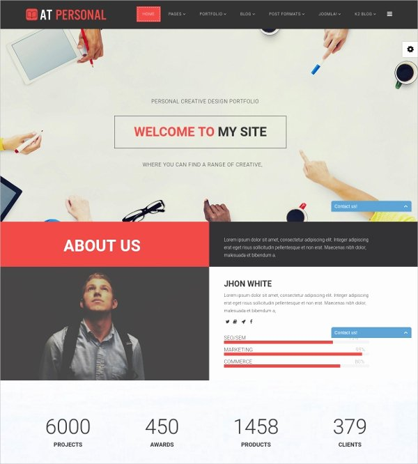 19 Free Personal Website themes & Templates