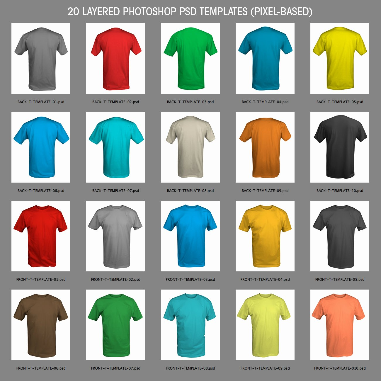 19 Free Templates for Shop Psd Shirt White T