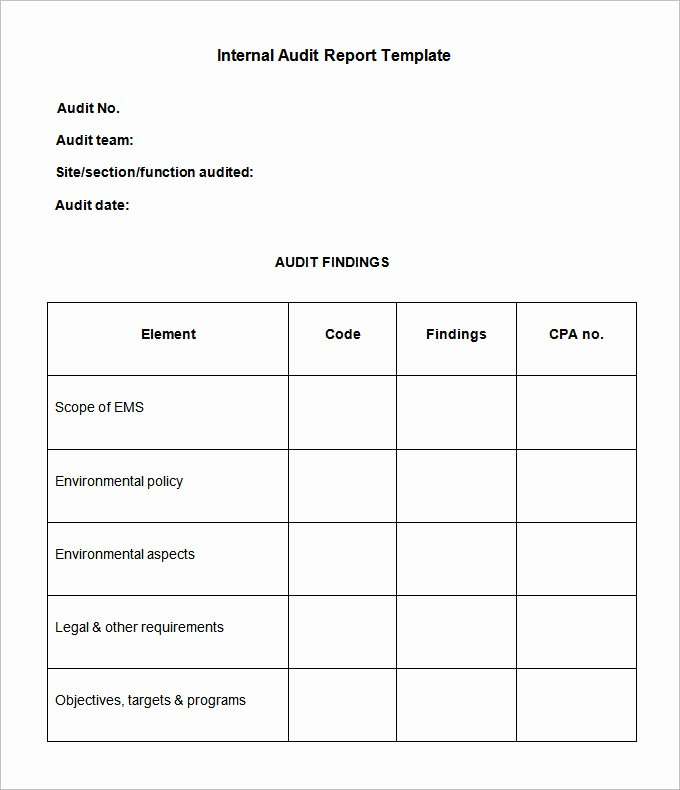 19 Internal Audit Report Templates Pdf Doc