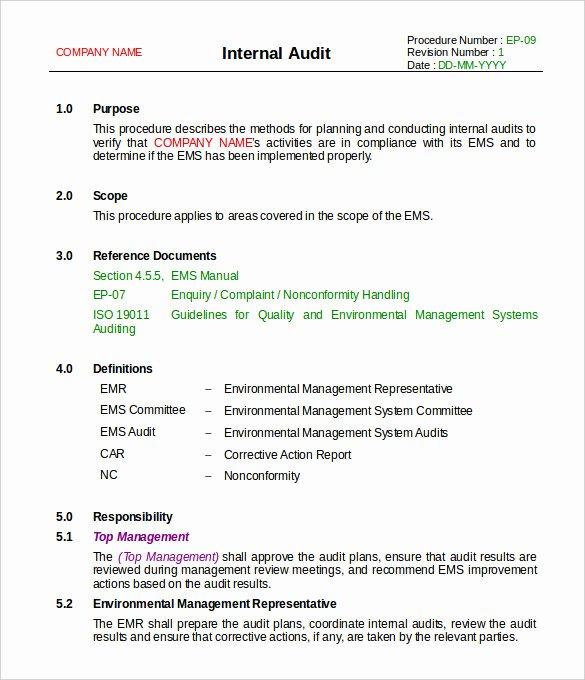 19 Internal Audit Report Templates Pdf Doc