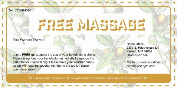 19 Massage Voucher Templates Psd Ai Word