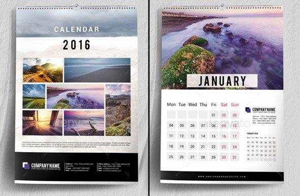 19 Nice Calendar 2016 Indesign Templates – Design Freebies