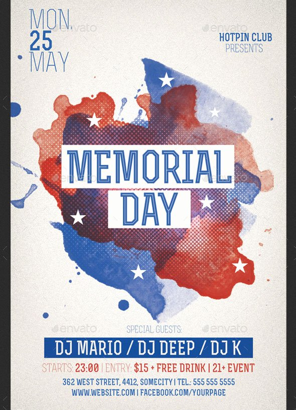 19 Nice Memorial Day Poster & Flyer Templates – Design