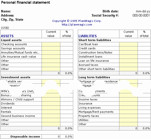 19 Personal Financial Plan Templates