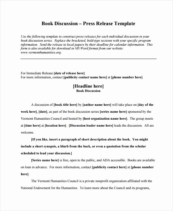 19 Press Release Templates Free Sample Example format