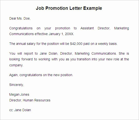 19 Promotion Letter Templates Pdf Doc