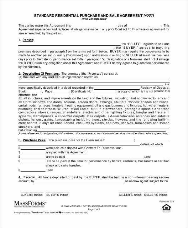 19 Purchase and Sale Agreement Templates Word Pdf