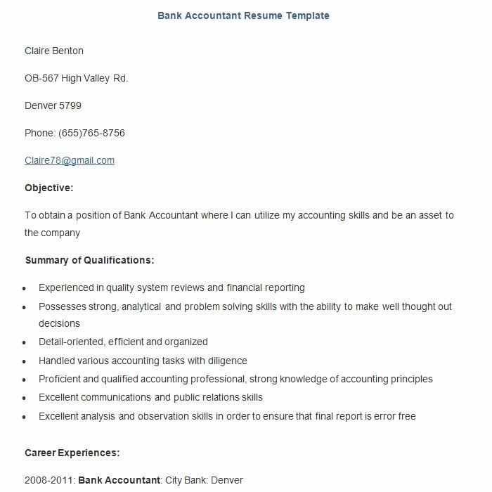 19 Sample Banking Resume Templates Pdf Doc