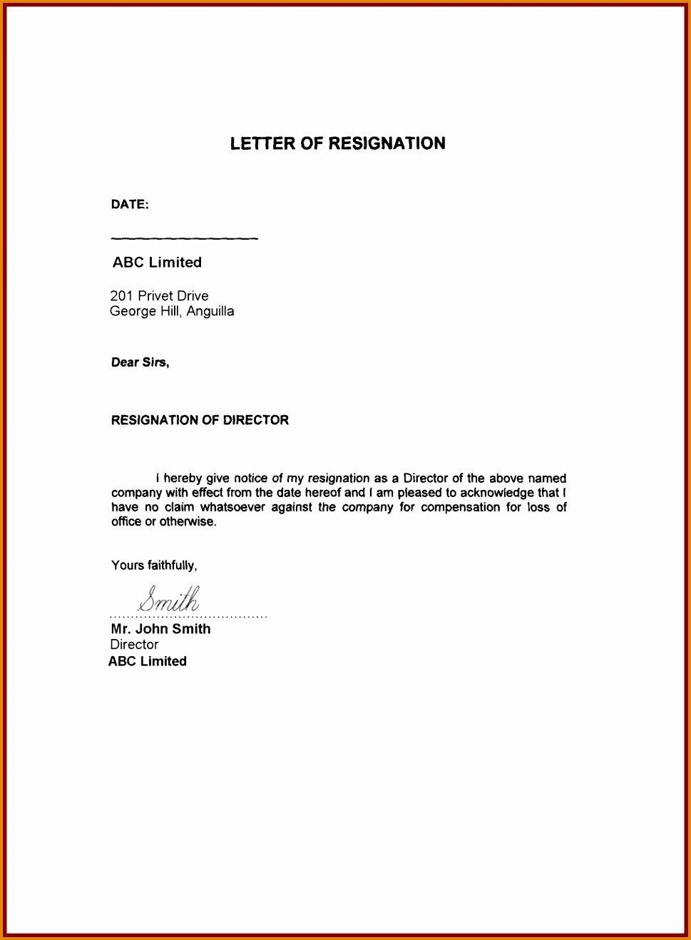 19 Sample Resignation Letter
