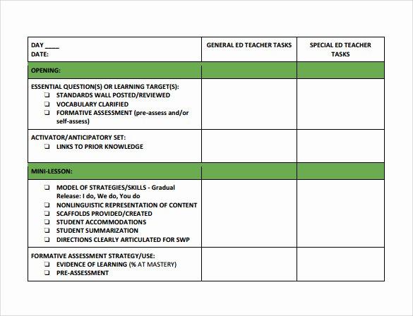 19 Sample Teacher Lesson Plan Templates