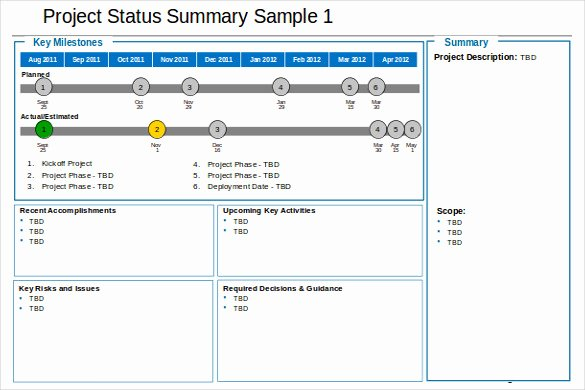 19 Status Report Templates Free Sample Example