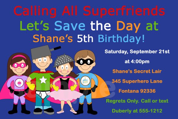 19 Superhero Birthday Invitations Free Psd Vector Eps