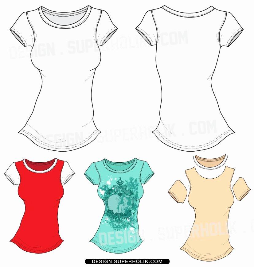 19 Women Basic Shirt Vector Template Women S T