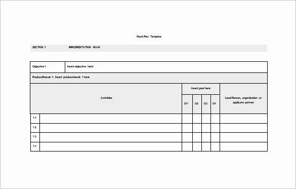 19 Work Plan Templates Free Sample Example format