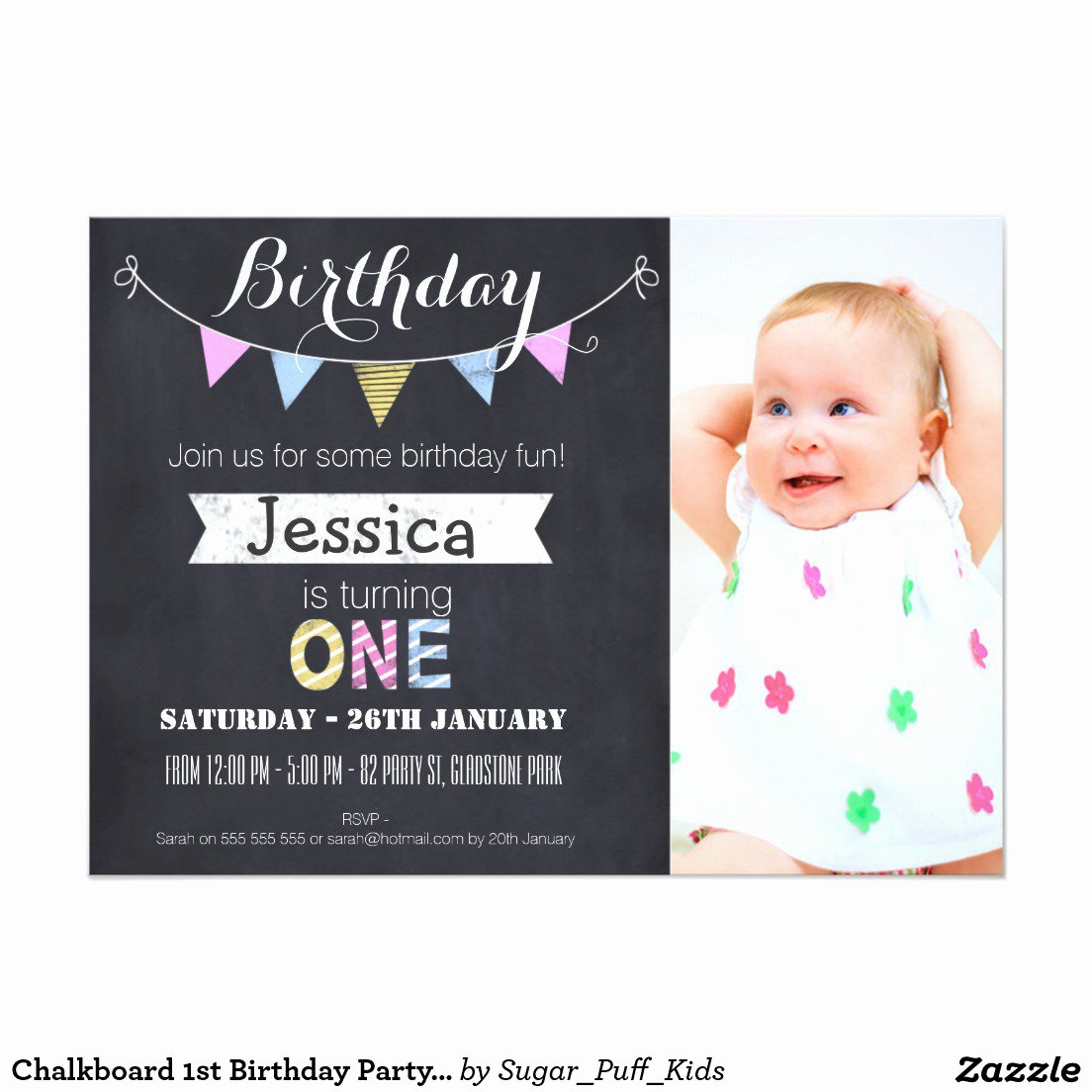 1st Birthday Invitation Template Free Printable