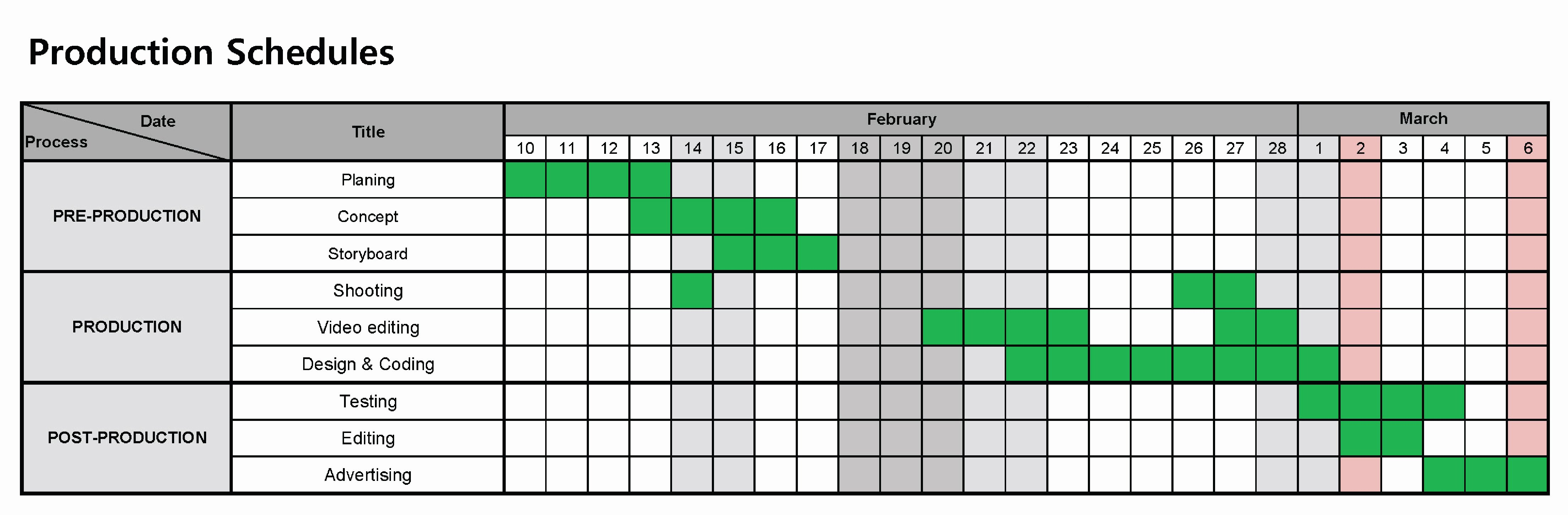 2 3 Production Schedule