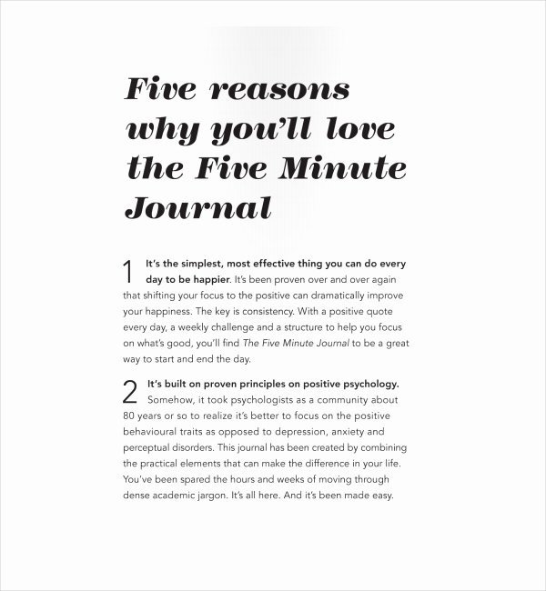 2 Five Minute Journal Templates Pdf