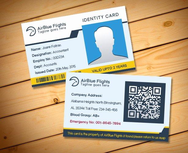 2 Free Pany Employee Identity Card Design Templates